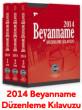 Beyanname Düzenleme Kılavuzu 2014